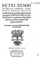 Opera omnia / Bembo, Pietro