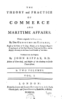 The theory and practice of commerce and maritime affairs,