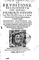 De eruditione religiosorum libri quinque ...