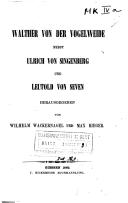 Walther von der Vogelweide nebst Ulrich von Singenberg und Leutold von Seven