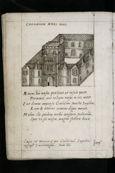'A welcoming dialogue for the visit of the Queen, the most serene Lady Elizabeth, between the Queen herself and Lord Robert Dudley, Earl of Leicester and Chancellor of the University.'