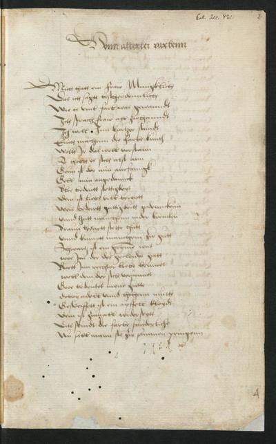 Ms Germ Fol 488 Sammelhandschrift Lieder Sprüche