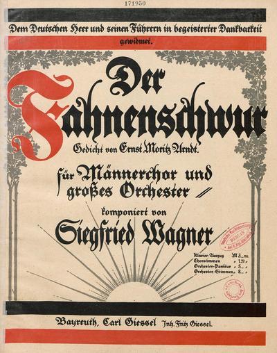 Der Fahnenschwur Gedicht von Ernst Moritz Arndt