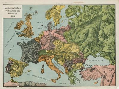 Momentaufnahme Von Europa Und Halbasien 1914 Europeana Collections