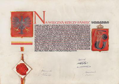 Akt oddania społeczeństwu nowego gmachu Muzeum Narodowego w Warszawie przy Al. 3 Maja 13 w dniu 18 czerwca 1938 r.