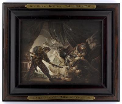 Oślepienie Samsona, kopia według Rembrandta