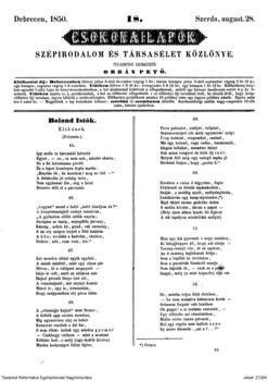 Bolond Istók első ének : (45-56.)