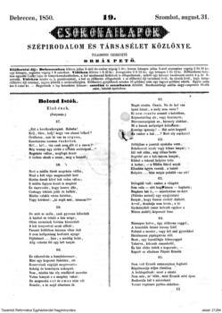 Bolond Istók első ének : (57-70.)