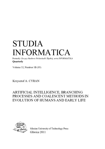 Artifical intelligence, branching processes and coalescent methods in evolution of humans and early life
