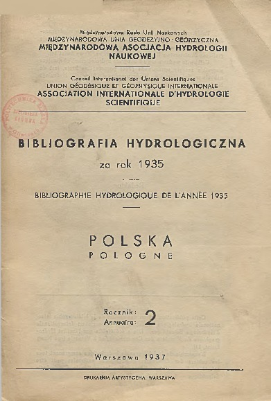 Bibliografia Hydrologiczna za rok 1935. Polska, Rocznik 2