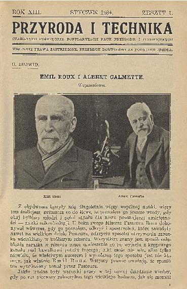 Image from object titled Przyroda i Technika, R. 13, Z. 1