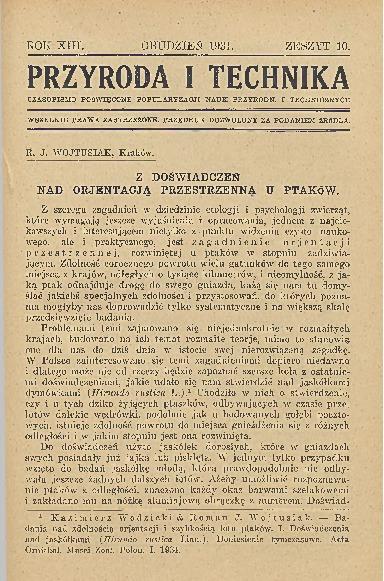 Image from object titled Przyroda i Technika, R. 13, Z. 10