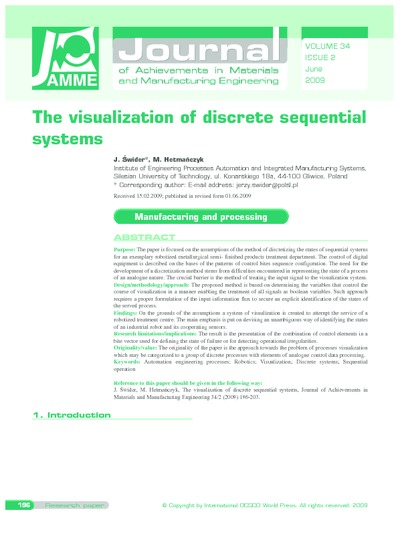 The visualization of discrete sequential systems