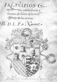 Principios Geometricos, conclusiones y formas de saber dela verd[ader]a destreça de las armas [Manuscrito]