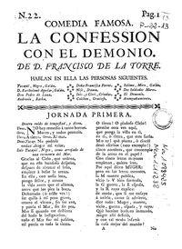 Comedia famosa La confession con el demonio
