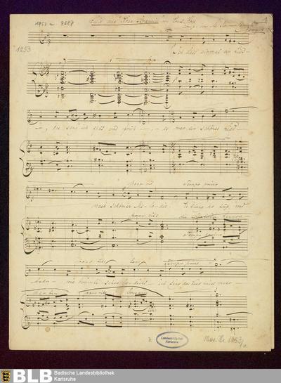 3 Lieder - Mus. Hs. 1253 : V, pf