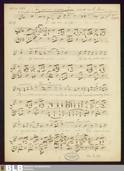 2 Lieder - Mus. Hs. 1239 : V, pf ; g