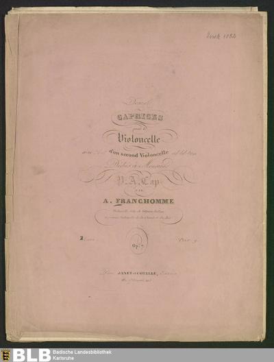 2 Livre (Douze Caprices pour le Violoncelle, 2)