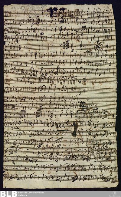 Symphonies - Mus. Hs. 509 : ob (2), fag, cor (2), clno ; D ; BrinzingMWV 8.3