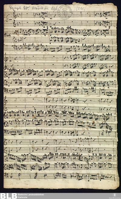 Concertino - Mus. Hs. 596 : fl (2), cor (2), b ; D ; BrinzingMWV 8.15