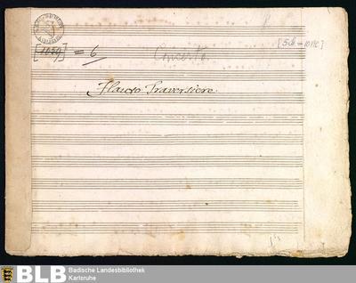 Concertos - Mus. Hs. 6 : fl, vl (2), a-vla, bc ; F ; GroF 697 TalA 10