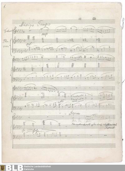 Serenade auf dem Meer : Dichtung von Isolde Kurz ; Besetzung: Gesang, Violine, Englisch Horn und Klavier - Mus. Hs. 1418,238