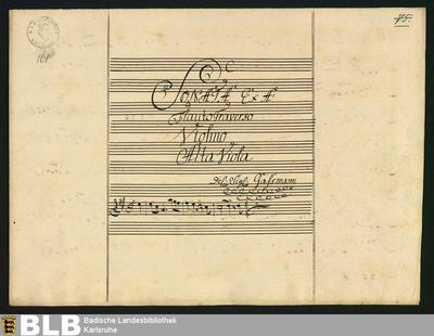 Sonatas - Mus. Hs. 161 : fl, vl, vla ; A ; HilG 385 GroT 3342-A