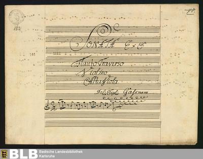 Sonatas - Mus. Hs. 162 : fl, vl, vla ; C ; HilG 386 GroT 3338-C