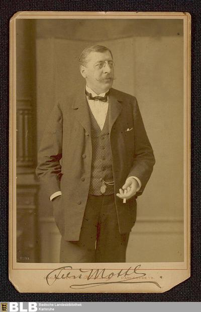 Fotografie mit Widmung von Felix Mottl an Wika von Schnitzler vom April 1904 - K 3220,7