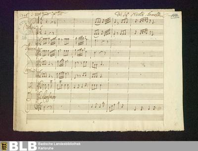 Sofonisba. Excerpts - Mus. Hs. 216 : S, orch