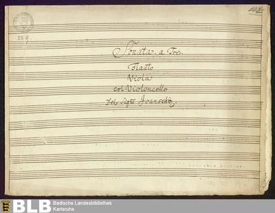 Sonatas - Mus. Hs. 229 : fl, vla, vlc ; D ; RieA 20 GroT 6460-D