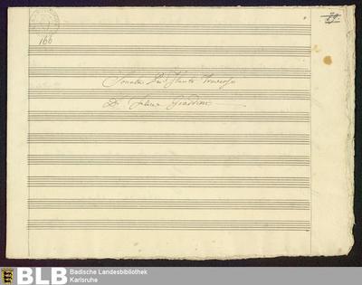 Sonatas - Mus. Hs. 166 : fl, b ; D