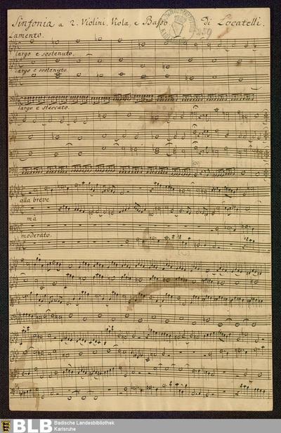 Symphonies - Mus. Hs. 259 : vl (2), vla, b ; f ; DunningL 1994 vol.X, OP-SN 2 DunL 2.2