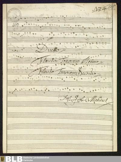 Duets - Mus. Hs. 263 : fl (2) ; A