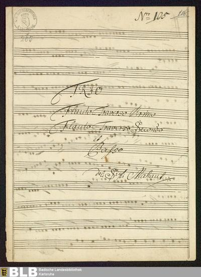 Sonatas - Mus. Hs. 265 : fl (2), bc ; D ; WenG 45 GraunWV C:XV:81 GroT 3862-D