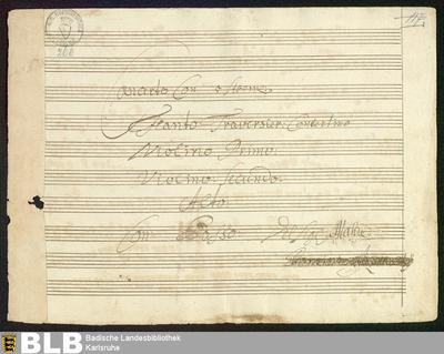 Concertos - Mus. Hs. 266 : fl, vl (2), a-vla, b ; G ; GroF 744