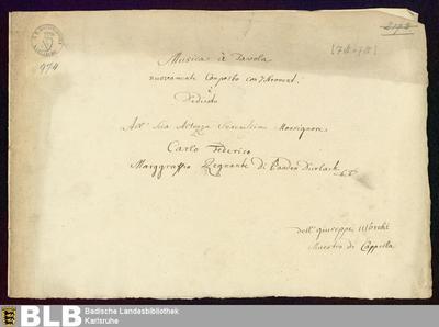 Musica à tavola - Mus. Hs. 974 : woodwinds, brasses ; E|b