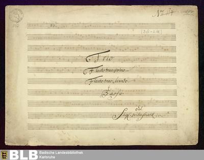 Sonatas - Mus. Hs. 863 : fl (2), b ; G ; GroT 3318-G