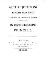 Psalmi Davidici interpretatione, argumentis, notisque illustrati.