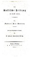 <<Der>> russische Feldzug im Jahre 1812