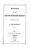 Panini's Sutra's mit Indischen Scholien : Panini's acht Bücher grammatischer Regeln (Band I.)