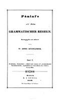 Einleitung, Commentar, erklärender Index der grammatischen Kunstausdrücke, alphabetisches Verzeichniss der Sutra's, Ganapatha : Panini's acht Bücher grammatischer Regeln (Band II.)