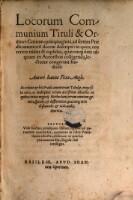 Locorum communium tituli et ordines centum quinquaginta, ad seriem praedicamentorum decem descripti