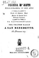 Iginia d'Asti. Melo-Dramma in 2 atti. Musica di Samuel Levi.