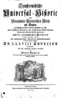 Synchronistische Universal-Historie der vornehmsten Europäischen Reiche und Staaten von Erschaffung der Welt bis auf das jetztlauffende 1755. Jahr