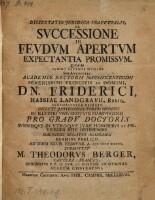 De Successione In Feudum Apertum Expectantia Promissum