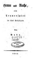 Genua und Rache, ein Trauerspiel in fünf Aufz. (Theaterstücke (tit.fict.) - Fingierte Reihe aus der Bibliothek des k.k. Hofburgtheaters)