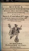 Musica ... fatta sopra le conclusioni di legge, difese dall' illustre Sig. Alessandro Vinstini.