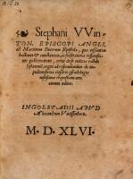 Ad Martinum Bucerum epistola, qua ... urget ad respondendum de impudentissima ejusdem pseudologia iustissimae conquestioni ante annum aeditae