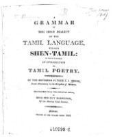 A grammar of the high dialect of the Tamil language, termed